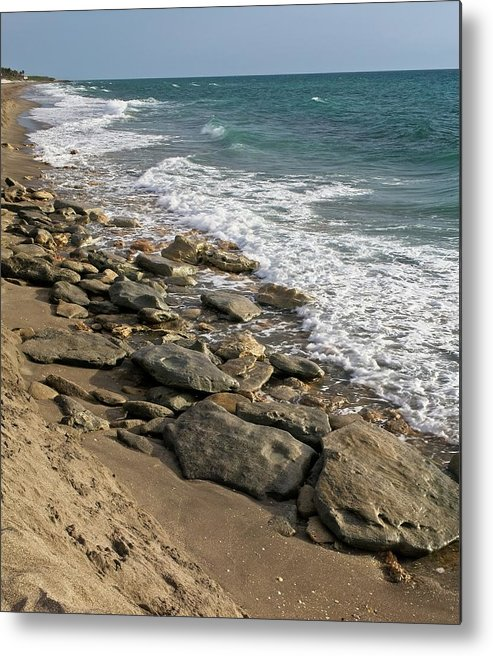 Rocky Metal Print featuring the photograph Rocky Shoreline No. 2 by Steve DaPonte