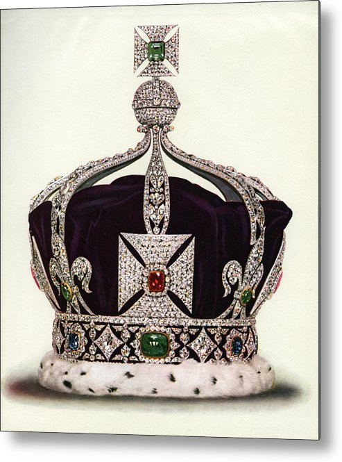 Crown Metal Print featuring the photograph The Imperial Crown Of India by Graphicaartis