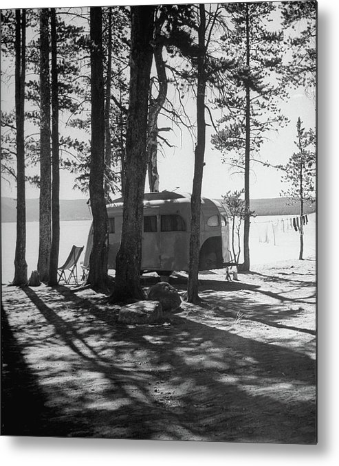 Timeincown Metal Print featuring the photograph Trailer Park In Yellowstone National by Alfred Eisenstaedt