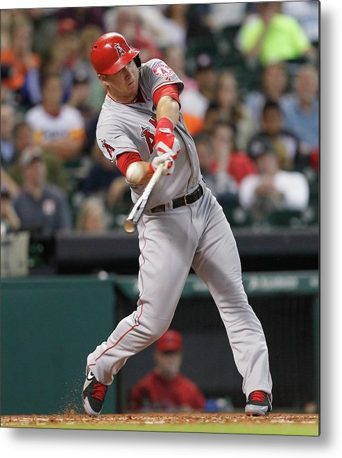 People Metal Print featuring the photograph Mike Trout by Bob Levey
