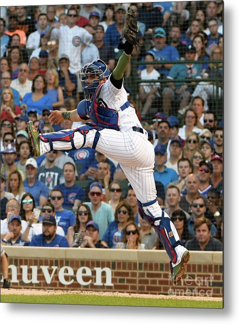 People Metal Print featuring the photograph Willson Contreras by David Banks