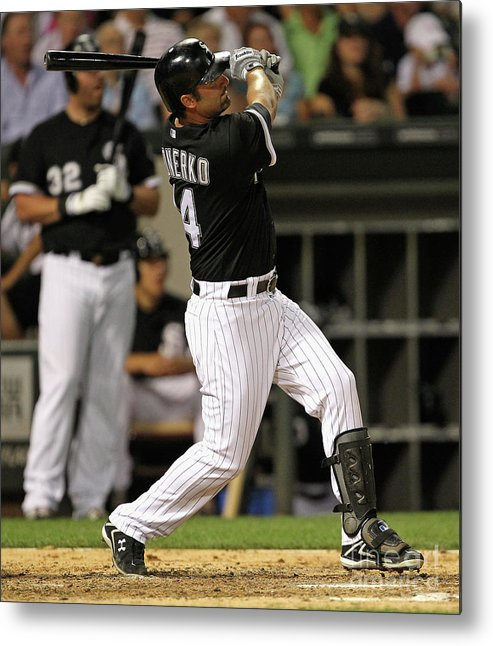 American League Baseball Metal Print featuring the photograph Paul Konerko by Jonathan Daniel