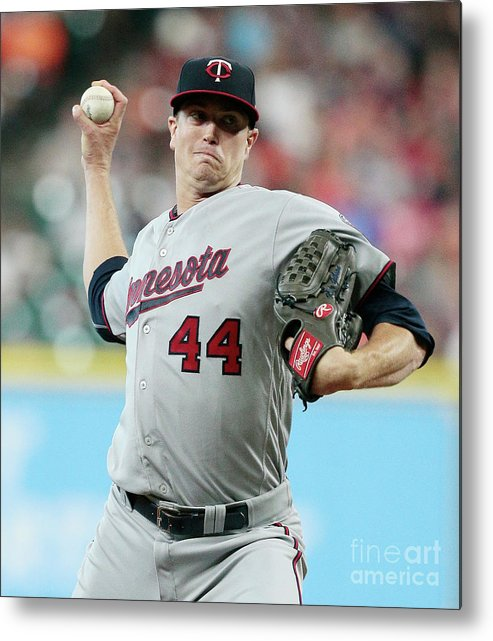 Three Quarter Length Metal Print featuring the photograph Kyle Gibson by Bob Levey