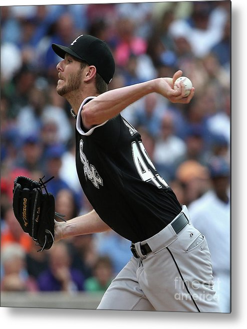 Three Quarter Length Metal Print featuring the photograph Chris Sale by Jonathan Daniel