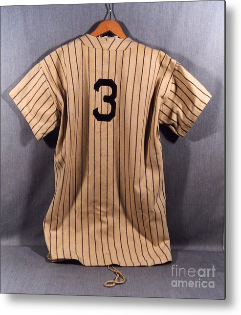Baseball Uniform Metal Print featuring the photograph Babe Ruth by National Baseball Hall Of Fame Library