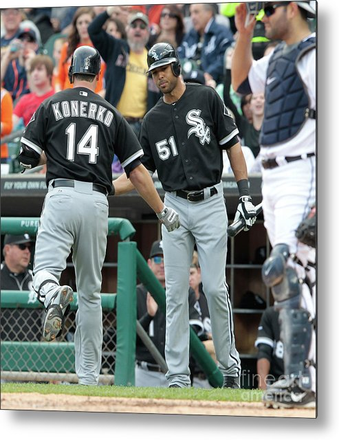 People Metal Print featuring the photograph Alex Rios and Paul Konerko by Leon Halip