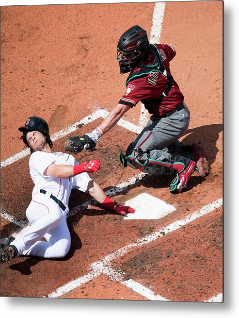 Second Inning Metal Print featuring the photograph Andrew Benintendi by Michael Ivins/boston Red Sox