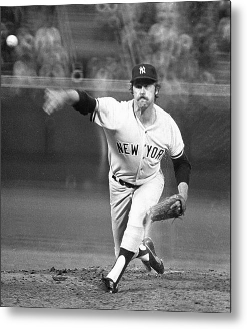American League Baseball Metal Print featuring the photograph Catfish Hunter by Ronald C. Modra/sports Imagery