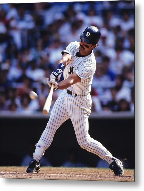 American League Baseball Metal Print featuring the photograph Don Mattingly by Ronald C. Modra/sports Imagery