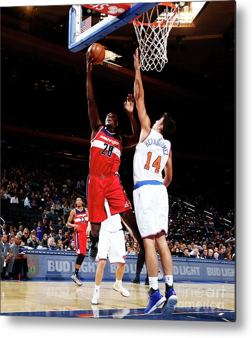 Guillermo Hernangómez Geuer Metal Print featuring the photograph Ian Mahinmi by Nathaniel S. Butler