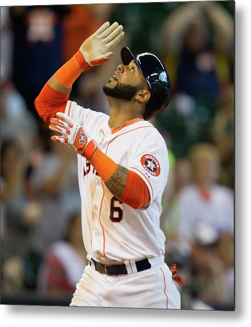 American League Baseball Metal Print featuring the photograph Jonathan Villar by Bob Levey