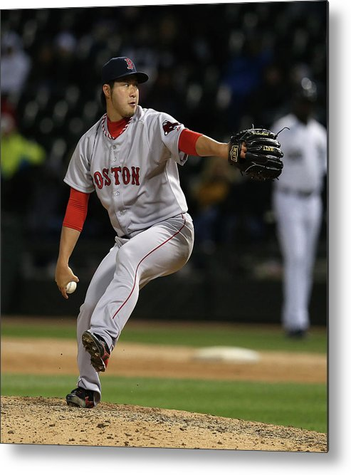 American League Baseball Metal Print featuring the photograph Junichi Tazawa by Jonathan Daniel