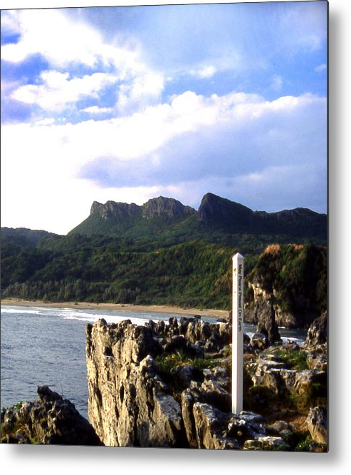 South Okinawa Point Metal Print featuring the photograph South Point Okinawa Look In by Curtis J Neeley Jr