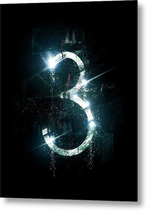 Abstract Metal Print featuring the digital art 3 by George Smith