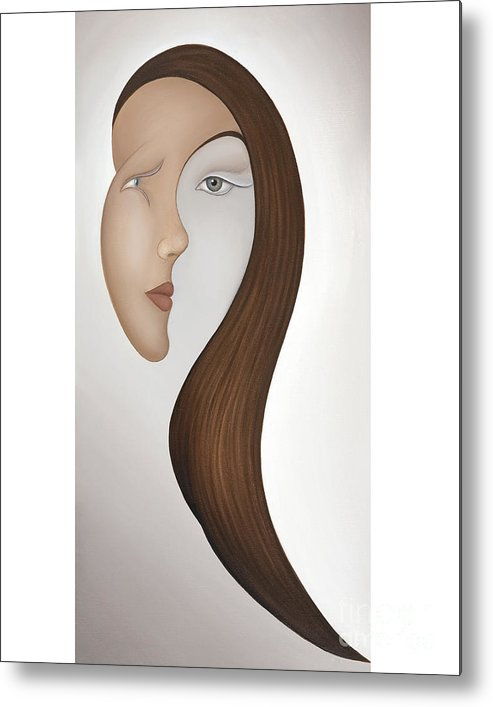 Sensual Metal Print featuring the painting Insight by Joanna Pregon