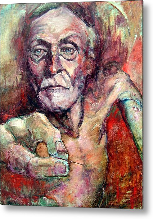Albert Fish Metal Print featuring the painting A Fish by Jose Lopes