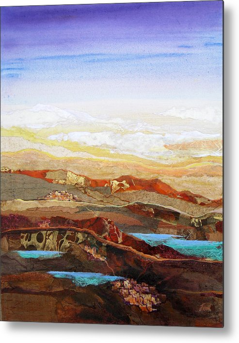 Mixed Media Metal Print featuring the painting Arizona Reflections Number Two by Don Trout