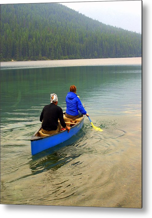 Glacier National Park Metal Print featuring the photograph Canoeing Glacier Park by Marty Koch