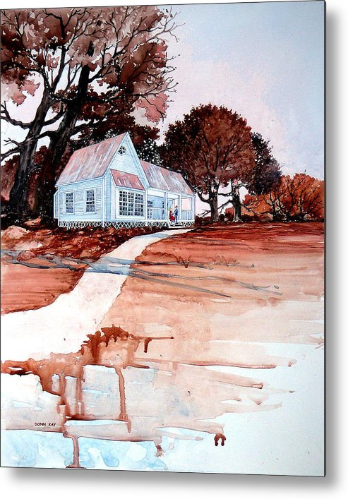 Love Metal Print featuring the painting Country Court' N by Donn Kay