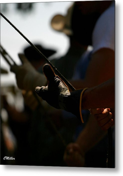 Rodeo Metal Print featuring the photograph Heatin Up The Rosin.. by Carol Miller