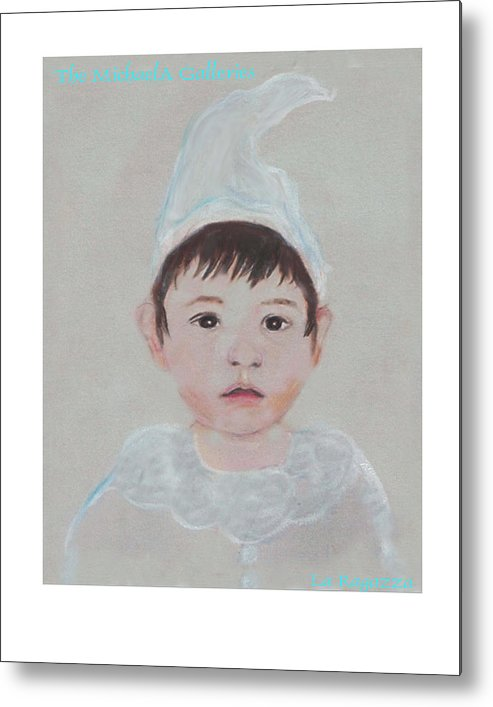 Child Metal Print featuring the painting La Ragazza by Michela Akers
