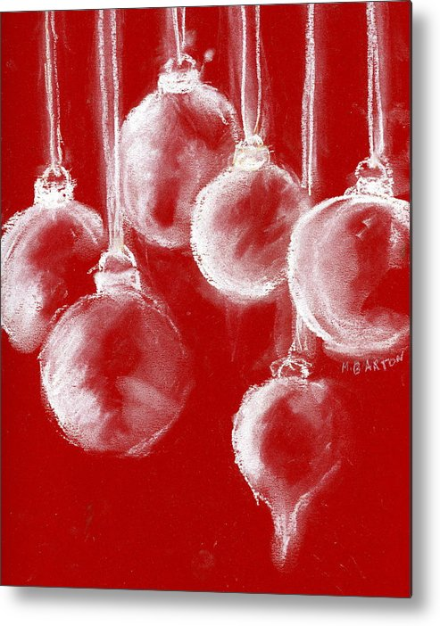 Ornament Metal Print featuring the painting Ornaments by Marilyn Barton