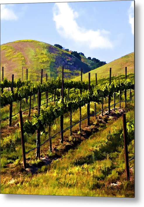 Vineyard Metal Print featuring the digital art Springs Promise Two by Patricia Stalter