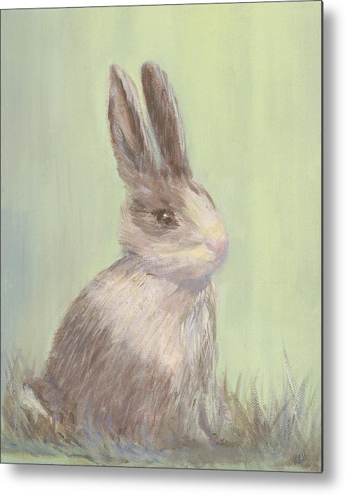 Rabbit Metal Print featuring the painting Sweet Bun by Kimberly Hodge