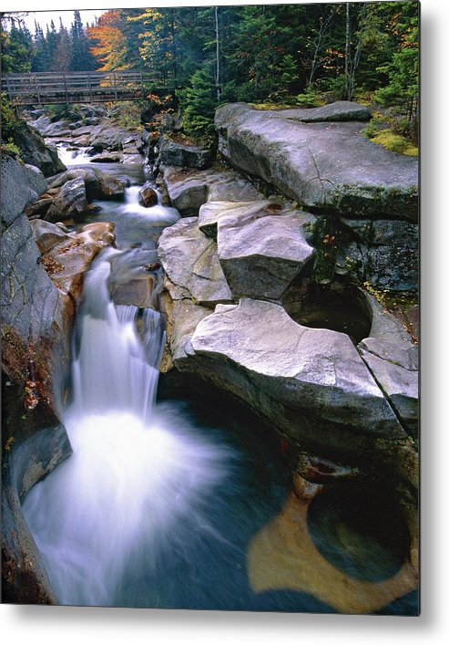 Ammonoosuc River Metal Print featuring the photograph Waterfall On The Ammonoosuc River by George Oze