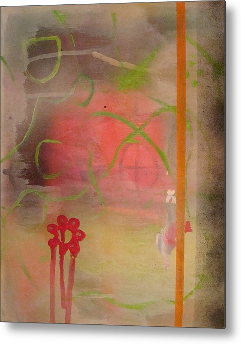 Modern Abstract Metal Print featuring the painting Weeping Flower by W Todd Durrance