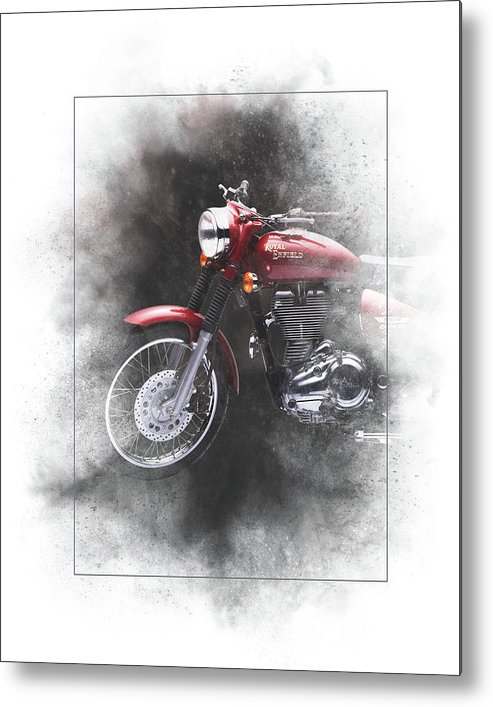 Royal Enfield Metal Print featuring the mixed media Royal Enfield Bullet Electra Efi Painting by Smart Aviation