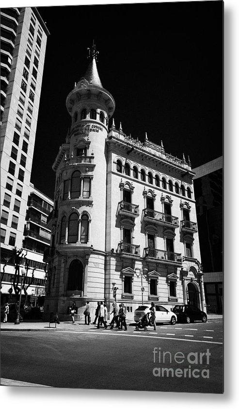 Casa Metal Print featuring the photograph Casa De La Punxa Home To The Tarragona Chamber Of Commerce Catalonia Spain by Joe Fox