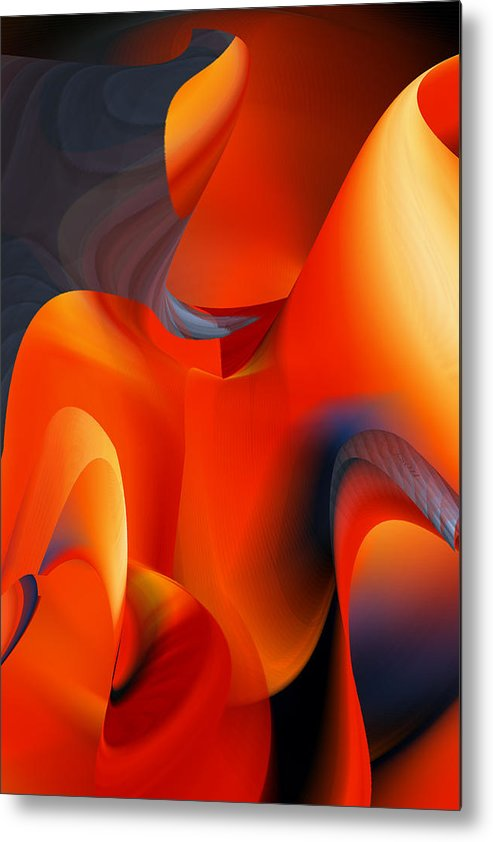 Rd Erickson Metal Print featuring the digital art Fiery Color For Iphone Art by rd Erickson