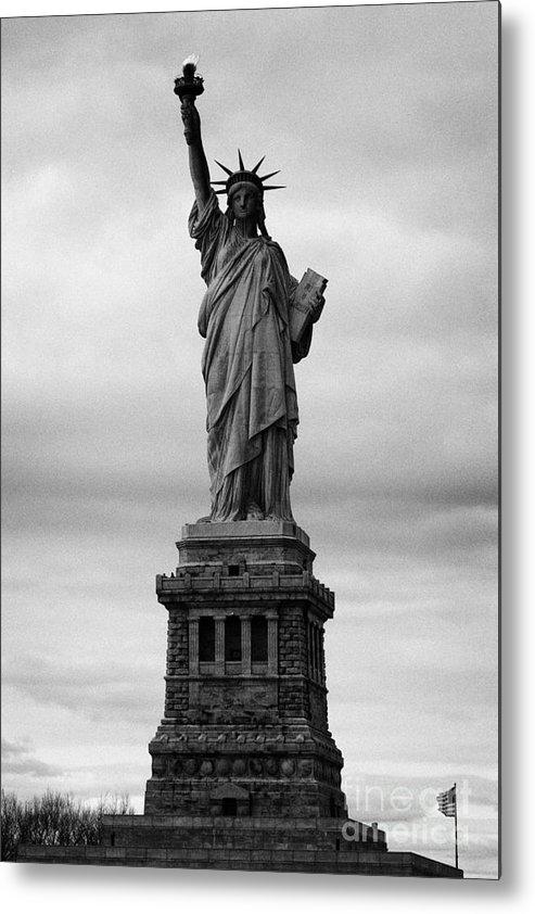 Usa Metal Print featuring the photograph Statue Of Liberty National Monument Liberty Island New York City Usa Nyc by Joe Fox