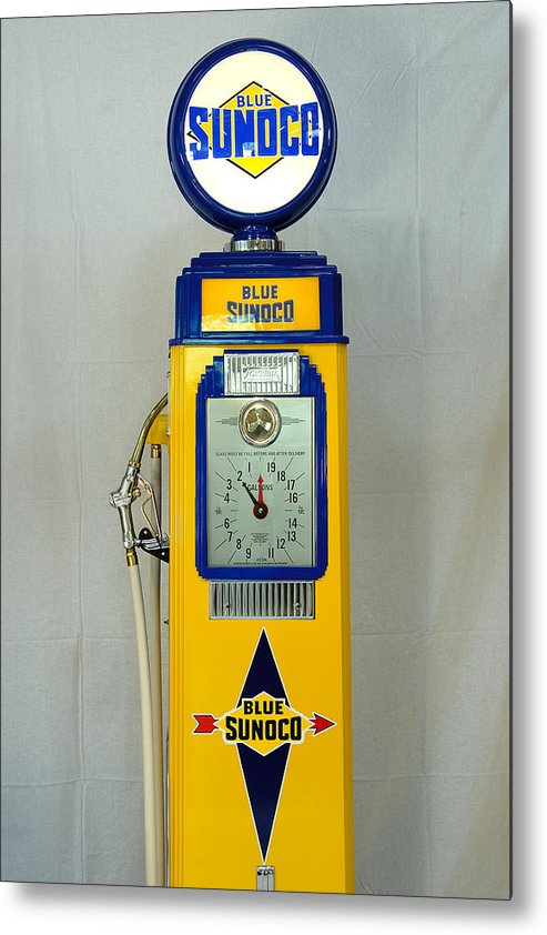 Sunoco Antique Gas Pump Metal Print featuring the photograph Antique Gas Pump by David Campione