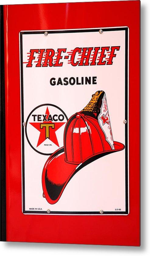Texaco Fire Chief Antique Gas Pump Metal Print featuring the photograph Texaco Gas Pump by David Campione