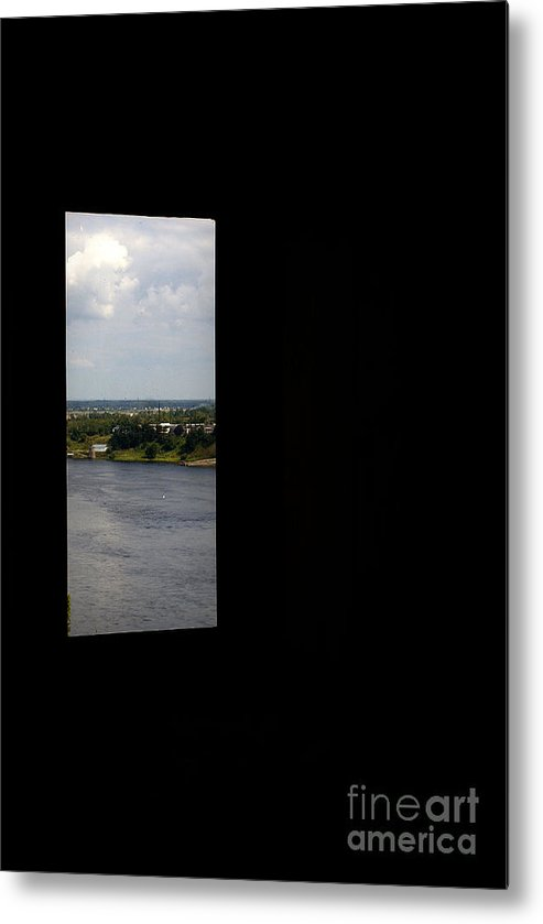 Black Metal Print featuring the photograph Black Not A Square by Vadim Grabbe