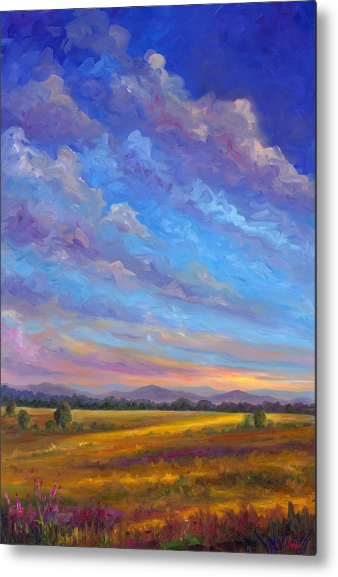 Field Metal Print featuring the painting Field Of Flowers by Jeff Pittman