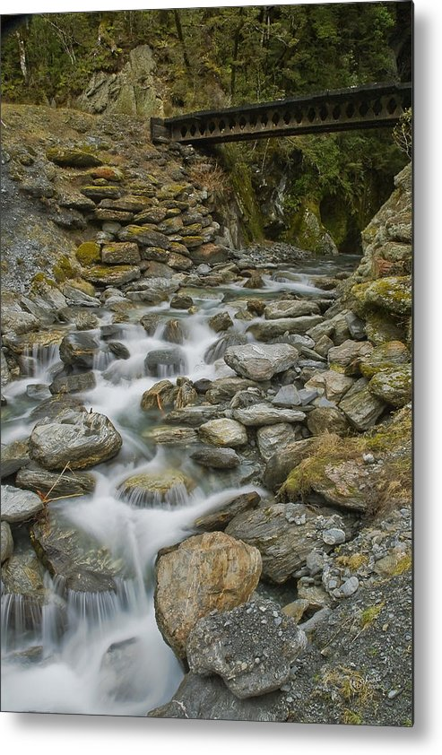 Haast Metal Print featuring the photograph Haast Waterfall by Andrea Cadwallader