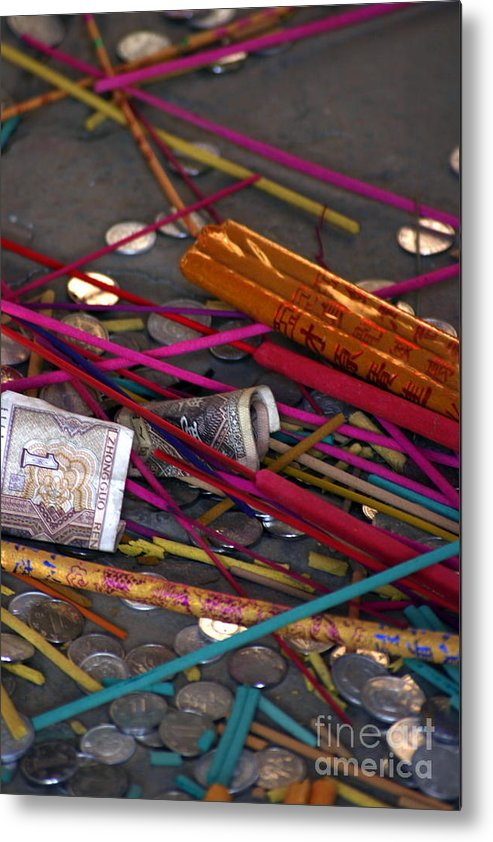 Incense Metal Print featuring the photograph Incense And Alms by April Holgate