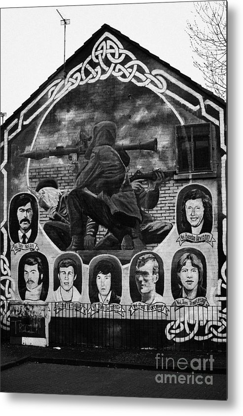 Belfast Metal Print featuring the photograph Ira Wall Mural Belfast by Joe Fox