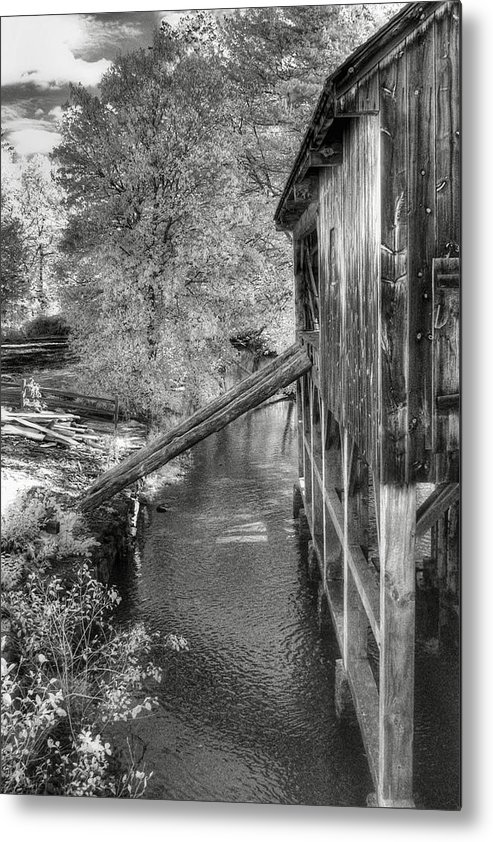 Old Mill Metal Print featuring the photograph Old Grist Mill by Joann Vitali
