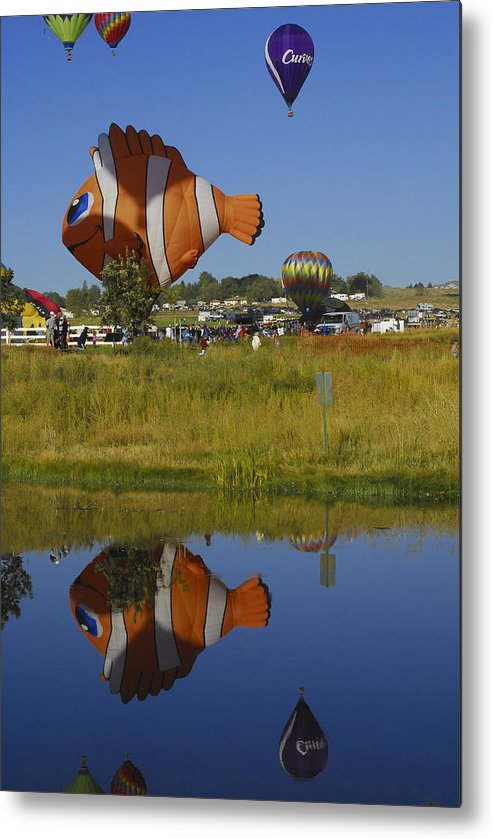 Balloon Metal Print featuring the photograph Reflections Of Flounder by Owen Ashurst