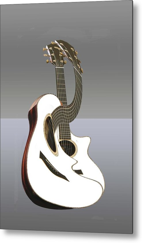 Music Metal Print featuring the digital art Smooth Guitar by Cleotha Williams