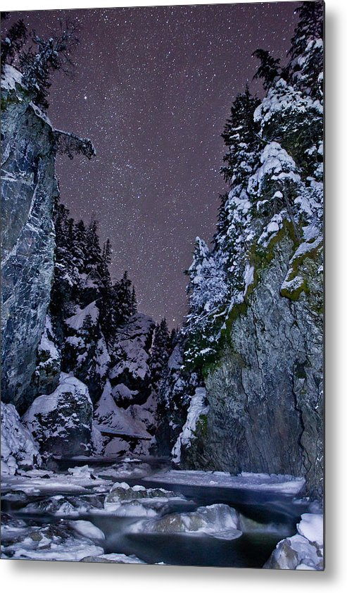 Stars Metal Print featuring the photograph Starry Creek by Brandon Broderick