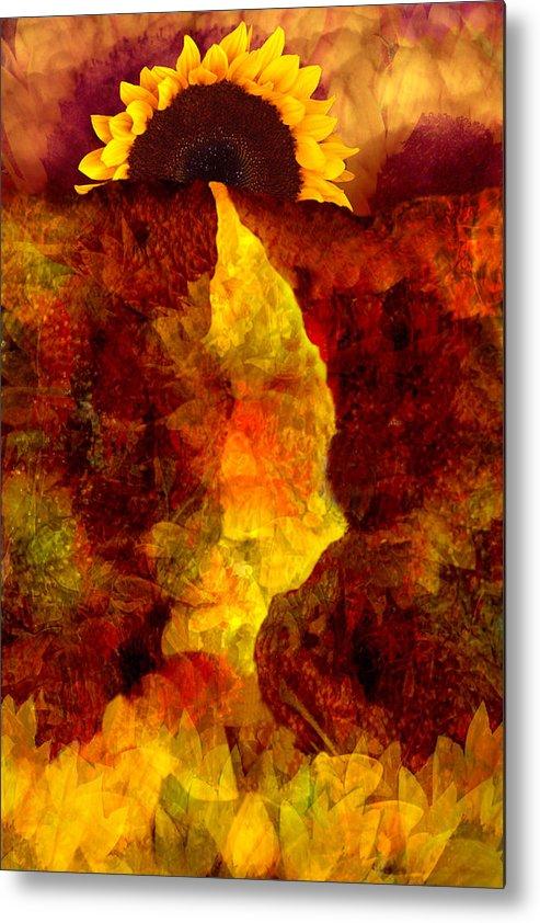 Sunflower Metal Print featuring the digital art Sundown by Tom Romeo