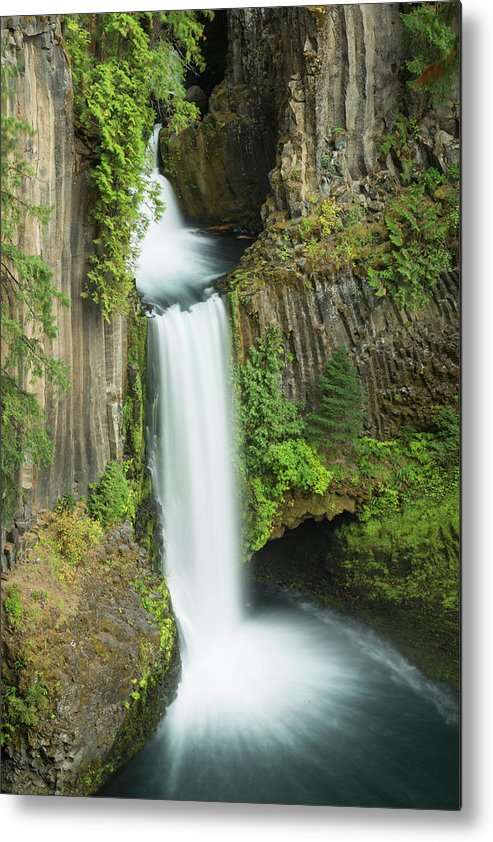 Waterfall Metal Print featuring the photograph Toketee Flow by Brenda Tharp