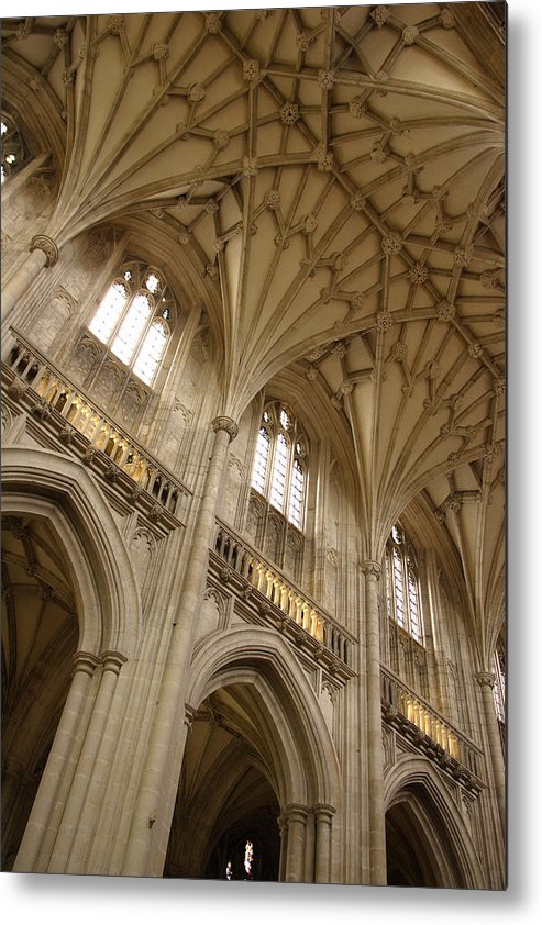 Winchester Cathedral Metal Print featuring the photograph Vaulted Ceiling by Michael Hudson
