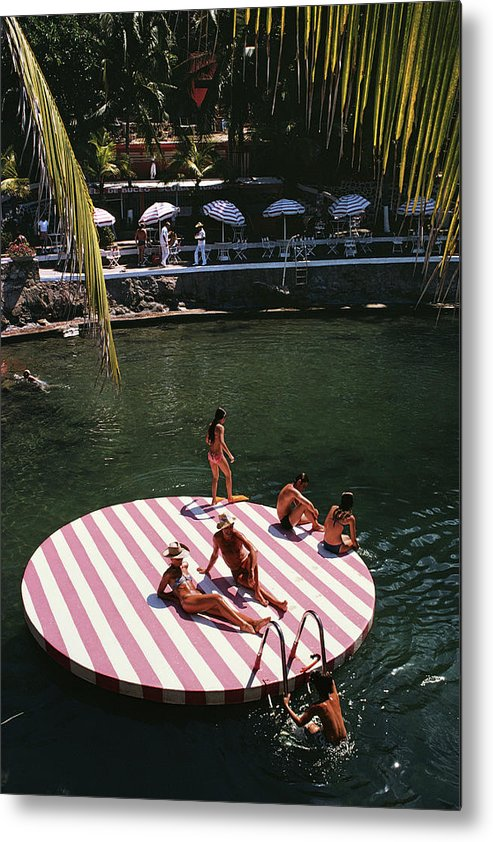 People Metal Print featuring the photograph La Concha Beach Club by Slim Aarons