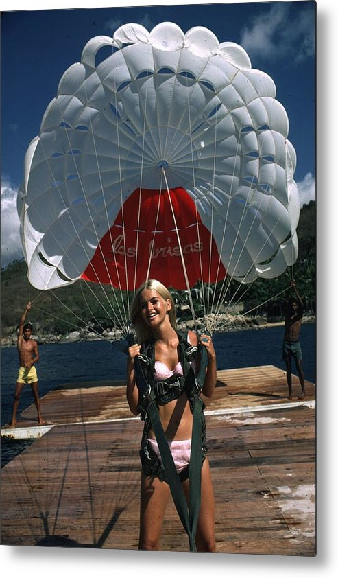 Recreational Pursuit Metal Print featuring the photograph Paraglider by Slim Aarons